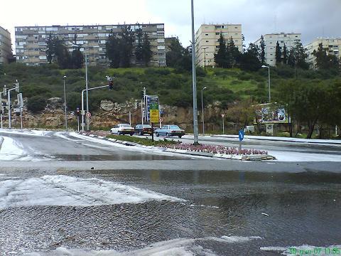 שלג בחיפה - מרץ 2007