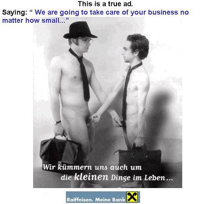 פרסומת של בנק גרמני